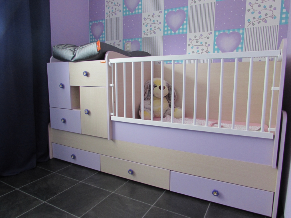 Tweedehands Baby Kamers.Lorelli Sonic Ledikant 6 In 1 Met Schommel Ledikanten Babykamers