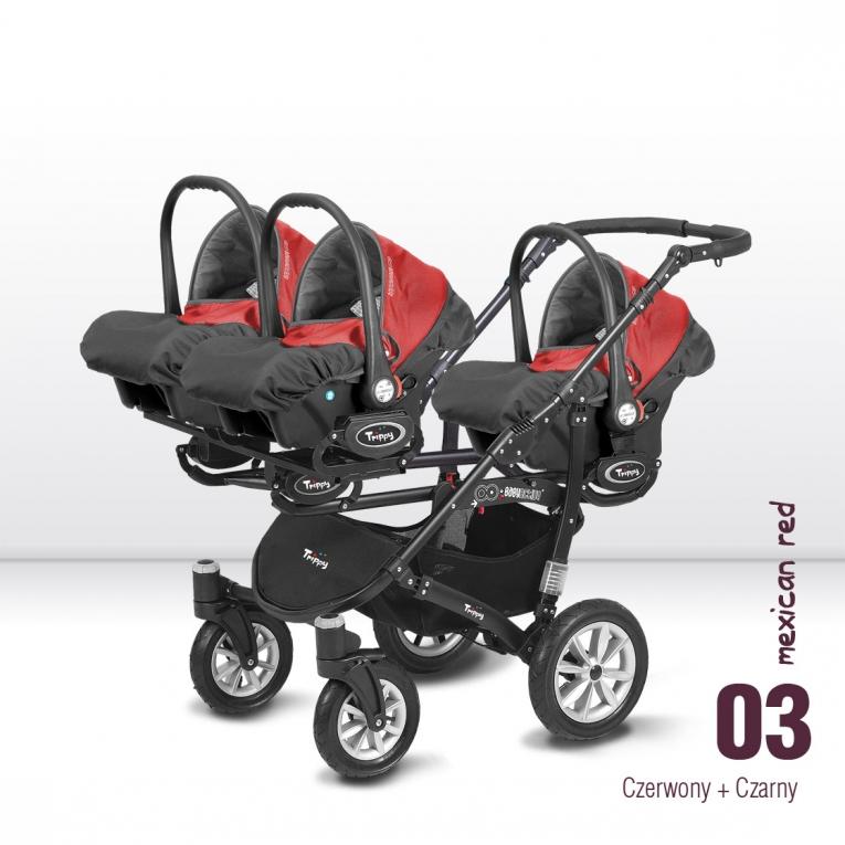 Drieling Kinderwagen, drielingwagen Trippy   Duowagens    Meerlingwagens   Trippy   Online Baby