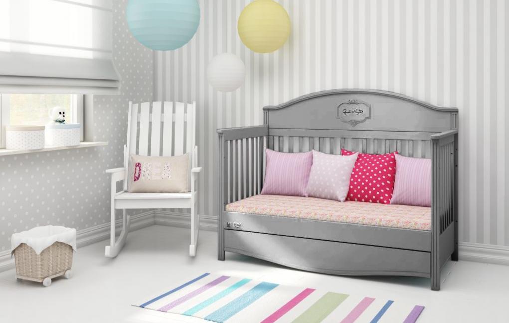 Ledikant good night grey ledikanten babykamers online baby shop amsterdam onyx tandem - Kamer wanddecoratie kind ...